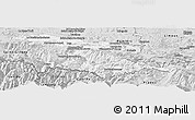 Silver Style Panoramic Map of Foix