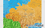Political Shades Map of Ariege