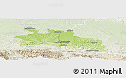 Physical Panoramic Map of Pamiers, lighten
