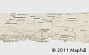 Shaded Relief Panoramic Map of Pamiers