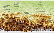 Physical 3D Map of Saint-Girons
