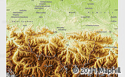Physical Map of Saint-Girons