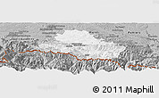 Gray Panoramic Map of Saint-Girons