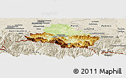 Physical Panoramic Map of Saint-Girons, shaded relief outside