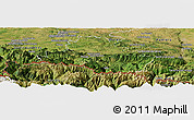 Satellite Panoramic Map of Saint-Girons