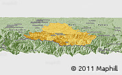Savanna Style Panoramic Map of Saint-Girons