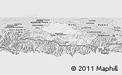 Silver Style Panoramic Map of Saint-Girons