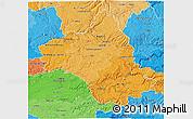 Political Shades 3D Map of Aveyron