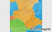 Political Shades Map of Aveyron