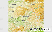 Physical 3D Map of Millau