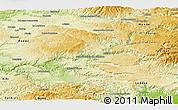Physical Panoramic Map of Millau