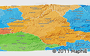 Political Shades Panoramic Map of Aveyron