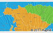 Political 3D Map of Mirande