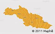 Political 3D Map of Mirande, single color outside