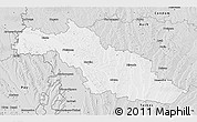 Silver Style 3D Map of Mirande