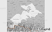 Gray 3D Map of Haute-Garonne