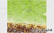 Physical 3D Map of Haute-Garonne