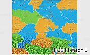 Political 3D Map of Haute-Garonne