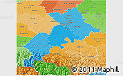 Political Shades 3D Map of Haute-Garonne