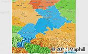 Political Shades 3D Map of Haute-Garonne