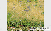 Satellite 3D Map of Haute-Garonne