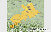 Savanna Style 3D Map of Haute-Garonne