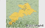 Savanna Style 3D Map of Haute-Garonne