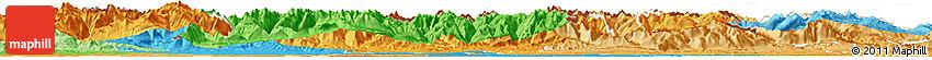 Political Shades Horizon Map of Haute-Garonne