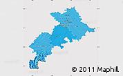 Political Shades Map of Haute-Garonne, cropped outside