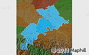 Political Shades Map of Haute-Garonne, darken