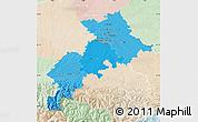 Political Shades Map of Haute-Garonne, lighten