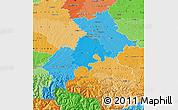 Political Shades Map of Haute-Garonne