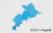 Political Shades Map of Haute-Garonne, single color outside