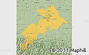 Savanna Style Map of Haute-Garonne