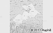 Silver Style Map of Haute-Garonne