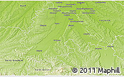 Physical 3D Map of Muret