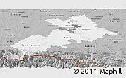 Gray Panoramic Map of Haute-Garonne