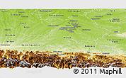 Physical Panoramic Map of Haute-Garonne