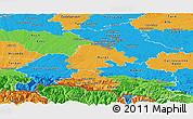 Political Panoramic Map of Haute-Garonne