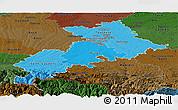 Political Shades Panoramic Map of Haute-Garonne, darken