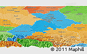 Political Shades Panoramic Map of Haute-Garonne
