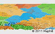 Political Shades Panoramic Map of Haute-Garonne