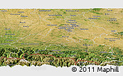 Satellite Panoramic Map of Haute-Garonne