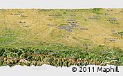 Satellite Panoramic Map of Haute-Garonne