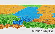 Political Panoramic Map of Saint-Gaudens