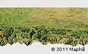 Satellite Panoramic Map of Saint-Gaudens