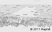 Silver Style Panoramic Map of Saint-Gaudens