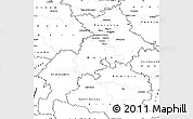 Blank Simple Map of Haute-Garonne
