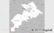 Gray Simple Map of Haute-Garonne