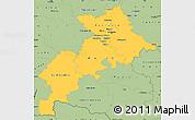 Savanna Style Simple Map of Haute-Garonne
